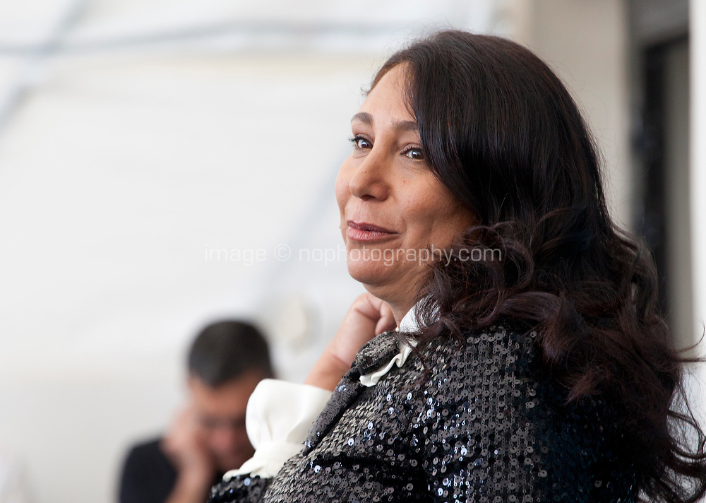 Venice, Italy, 29th August 2019, director Haifaa al-Mansour at the photocall for the film The Perfect Candidate at the 76th Venice Film Festival, Sala Grande. Credit: Doreen Kennedy