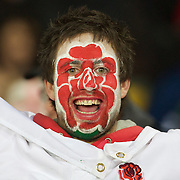 An England fan during the England V Scotland Pool B match during the IRB Rugby World Cup tournament. Eden Park, Auckland, New Zealand, 1st October 2011. Photo Tim Clayton...