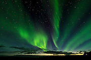 Northern lights at Skaftafell, East of Iceland