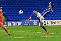 Football - 2019 / 2020 Emirates FA Cup - Fourth Round, Replay: Cardiff City vs. Reading<br /> <br /> Josh Murphy of Cardiff shoots at goal in extra time, at the Cardiff City Stadium.<br /> <br /> COLORSPORT/WINSTON BYNORTH