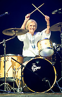 Mary Berry Joins Rick Astley on stage at Camp Bestival  Playing the Drums,mary  was there  filming  a new tv shouw that will be out later this year