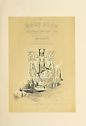 Entrance to the Temples of Aboo Simble (Abu Simble), Nubia, 1848. from The Holy Land : Syria, Idumea, Arabia, Egypt & Nubia by Roberts, David, (1796-1864) Engraved by Louis Haghe. Volume 4. Book Published in 1855 by D. Appleton & Co., 346 & 348 Broadway in New York.