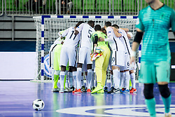 Players of team France during futsal match between Spain and France at Day 2 of UEFA Futsal EURO 2018, on January 31, 2018 in Arena Stozice, Ljubljana, Slovenia. Photo by Urban Urbanc / Sportida