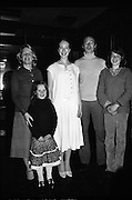 Young Dress Designer of the Year.     (M75).1979..22.05.1979..05.22.1979..22nd May 1979..The Cassidy Fabrics sponsored Young Dress Designer of the Year, make and model competition was held today in Liberty Hall,Dublin. The overall winner of the competition was Ms Marianne Byrne (15),Cabinteely,Co Dublin. Ms Byrne is a pupil at the Cabinteely Community School...A proud Marianne Byrne poses with her family after she was declared the Young Dress Designer of the Year 1979.