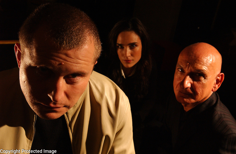 Actress Jennifer Connelly and actor Sir Ben Kingsley are seen with director of House of Sand and Fog Vadim Perelman, center, at 60 Thompson Hotel in Manhattan, NY. 10/10/2003 Photo by Jennifer S. Altman