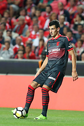 August 9, 2017 - Lisbon, Portugal - Braga's defender Lazar Rosic in action during the Portuguese League football match SL Benfica vs SC Braga at Luz stadium in Lisbon on August 9, 2017 . Photo: Pedro Fiuza. (Credit Image: © Pedro Fiuza/NurPhoto via ZUMA Press)
