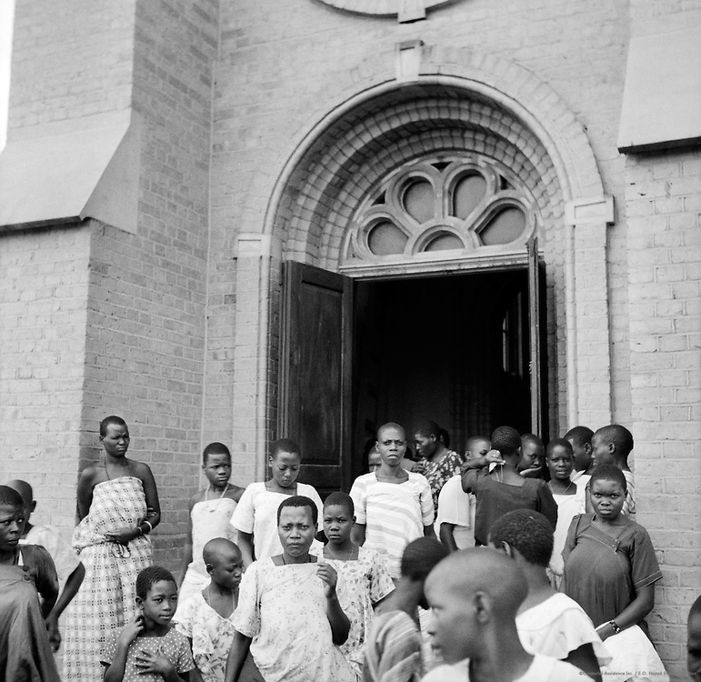 Baganda Christians Leaving Cathedral, Rugabaga Hill, Kampala, Uganda, Africa, 1937