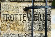 gate post chateau trottevieille saint emilion bordeaux france