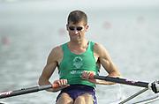 Seville, Andulucia, SPAIN<br /> <br /> 2002 World Rowing Championships - Seville - Spain Sunday 15/09/2002<br /> <br /> IRL LM 1X Sam Lynch<br /> <br /> [Mandatory Credit:Peter SPURRIER/Intersport Images]