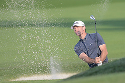 August 10, 2018 - Town And Country, Missouri, U.S - MARTY JERTSON from Phoenix Arizona, USA  hits out of the sand trap on the fourth hole during round two of the 100th PGA Championship on Friday, August 10, 2018, held at Bellerive Country Club in Town and Country, MO (Photo credit Richard Ulreich / ZUMA Press) (Credit Image: © Richard Ulreich via ZUMA Wire)