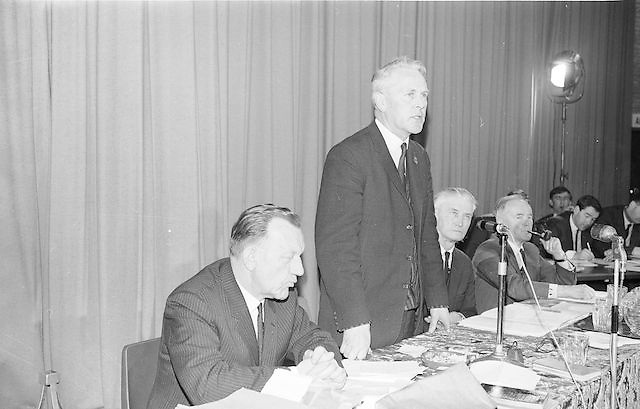 Mr Seamus Ryan, newly elected President of the GAA addressing the congress...Annual Congress, GAA. 26.3.1967. 26th March 1967