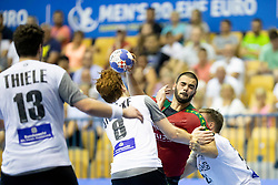 during handball match between National teams of Germany and Portugal in game for Third place of 2018 EHF U20 Men's European Championship, on July 29, 2018 in Arena Zlatorog, Celje, Slovenia. Photo by Urban Urbanc / Sportida