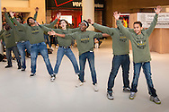 """Town of Wallkill, New York - Middletown High School students perform a song from """"South Pacific"""" during the Orange County Arts Council's All-County High School Musical Showcase and Arts Display at the Galleria at Crystal Run on Feb. 27, 2016."""
