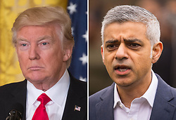 "File photos of Donald Trump (left) and Sadiq Khan. The London Mayor has hit back after the US president accused him of suggesting that people should not be ""alarmed"" by terror attacks on the capital."