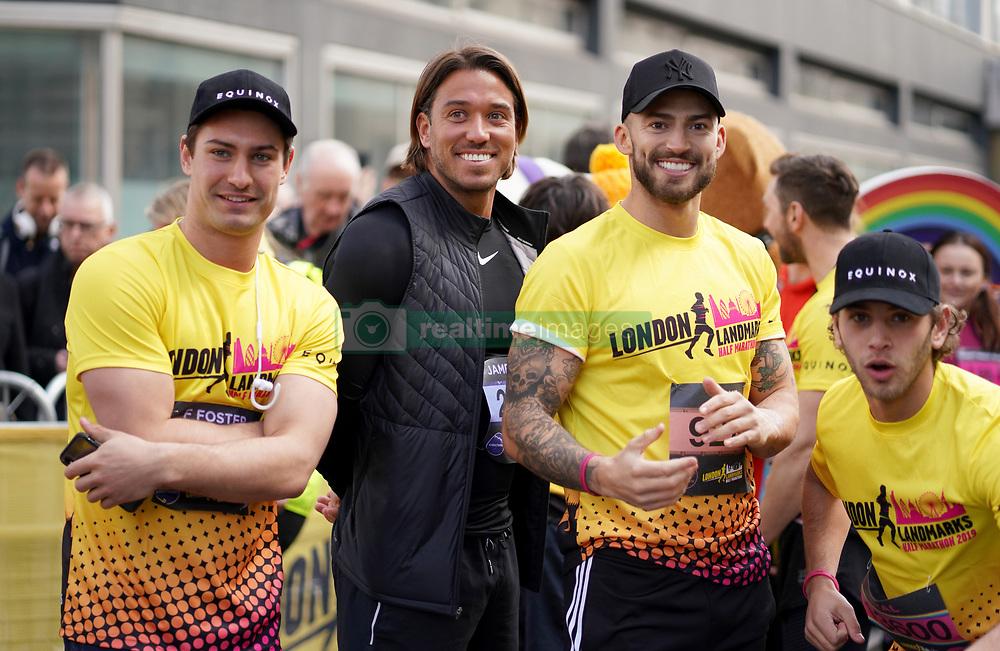 Frankie Foster, James Reach, Jake Quickenden and Eyal Booker during the 2019 London Landmarks Half Marathon.