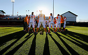 KNOXVILLE,TN - MARCH 22, 2016 - Tennessee Volunteers Softball Team during the game between the Jacksonville Dolphins and the Tennessee Volunteers at Sherri Parker Lee Stadium in Knoxville, TN. Photo By Craig Bisacre/Tennessee Athletics