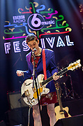 Ezra Furman playing in Colston Hall, Bristol. In 2016, the annual BBC 6 music festival was held in Bristol, UK. Spread across several venues, the festival is a celebration of music and is held in a different location in the UK each year.