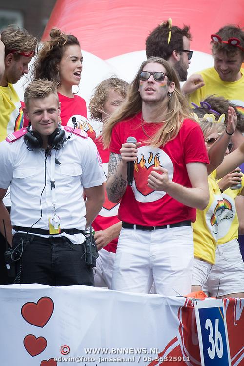 NLD/Amsterdam//20170805 - Gay Pride 2017, Frank van der lende