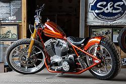 Bill Dodge's Blings Cycles Twin Cam Harley-Davidson rigid custom with its Zach Johnson KJC finessed 106 ci Twin Cam engine. Daytona Beach, FL. USA. Sunday, March 17, 2019. Photography ©2019 Michael Lichter.