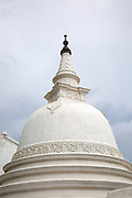 Detail of domed Buddhist stupa in the historic town of Galle, Sri Lanka, Asia