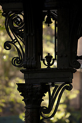 North America, United States, Washington, Seattle, detail of historic wrougt-iron pergola in Pioneer Square.