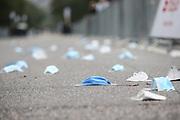 Marathon: Haspa Hamburg 2021, Hamburg, 12.09.2021<br /> Feature, Mundschutz, Corona, CoVid19, Hygienemaßnahmen<br /> © Torsten Helmke