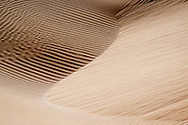 Abstract sand pattern at the sand dunes of Lac Naila, Morocco.