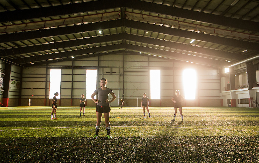 Sport Chek soccer shoot January 29, 2016 .