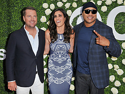 """""""NCIS: Los Angeles"""" Cast - Chris O'Donnell, Daniela Ruah and LL Cool J together at the 2017 CBS Television Studios Summer Soiree TCA Party held at the CBS Studio Center – New York Street in Studio City, CA on Tuesday, August 1, 2017. (Photo By Sthanlee B. Mirador) *** Please Use Credit from Credit Field ***"""