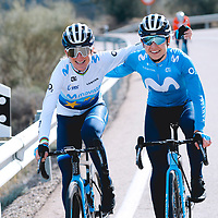 Annemiek van Vleuten, Sara Martín. 2021 Movistar Team Training Camp, Almería. 10.1.2021.