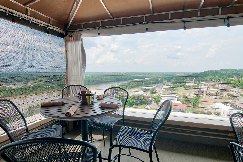 View of the Yazoo River from 10 South Rooftop Bar & Grill in Vicksburg, Mississippi on Tuesday, May 22, 2018. Copyright 2018 Jason Barnette