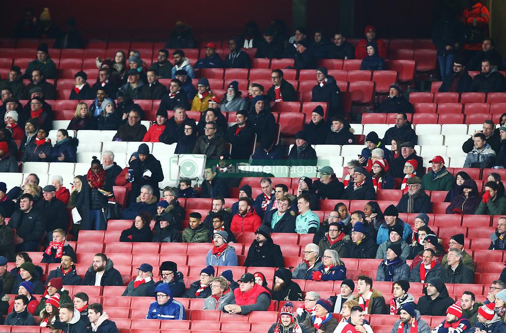 December 13, 2018 - London, England, United Kingdom - London, UK, 13 December, 2018.Missing Arsenal Fans.during Europa League Group E  between Arsenal and of Qarabag FK at Emirates stadium , London, England on 13 Dec 2018. (Credit Image: © Action Foto Sport/NurPhoto via ZUMA Press)