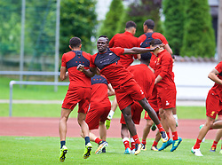 ROTTACH-EGERN, GERMANY - Friday, July 28, 2017: Liverpool's Sadio Mane during a training session at FC Rottach-Egern on day three of the preseason training camp in Germany. (Pic by David Rawcliffe/Propaganda)