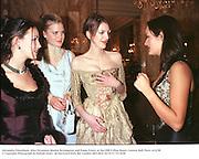 Alexandra Pakenham, Alice Ferguson, Marina Scrymgeour and Poppy Fraser at the1998 Crillon Haute Couture Ball. Paris. 6/12/98<br />© Copyright Photograph by Dafydd Jones<br />66 Stockwell Park Rd. London SW9 0DA<br />Tel 0171 733 0108