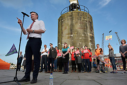 © Licensed to London News Pictures.  31/05/2017; Bristol, UK. General Election 2017; JONATHAN ASHWORTH. A rally in support of the NHS takes place at the Lloyds Amphitheatre in Bristol Docks. Jeremy Corbyn had been due to speak but took part in a TV debate instead, and speakers included shadow secretary of state for health Jonathan Ashworth, and shadow secretary of state for education Angela Rayner. The event was introduced by actor Paul McGann. Picture credit : Simon Chapman/LNP