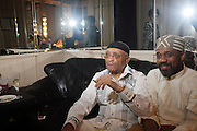 l to r: Cecil Taylor and Percussionist, Pherooan Aklaff at Cecil Taylor Celebrating The 80th Year Produced by Jill Newman Productions held at The Blue Note in New York City on May 28, 2009