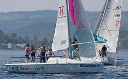 Silvers Marine Scottish Series 2017<br /> Tarbert Loch Fyne - Sailing<br /> <br /> GBR7096N, Big Boys Toys, Emily Smith, Glasgow University SC, Hunter 707 OD<br /> <br /> Credit Marc Turner / PFM