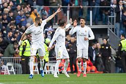 Real Madrid´s Karim Benzema celebrates a goal during La Liga Real Madrid v Atletico de Madrid football match at Santiago Bernabeu Stadium in Madrid, Spain. February 01, 2020. Photo by David Jar/AlterPhotos/ABACAPRESS.COM
