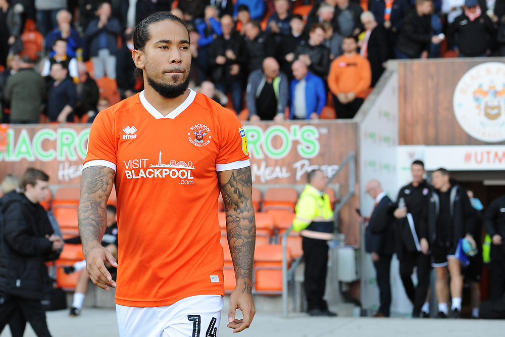 Blackpool's Sean Scannell<br /> <br /> Photographer Kevin Barnes/CameraSport<br /> <br /> The EFL Sky Bet League One - Blackpool v Rotherham United - Saturday 12th October 2019 - Bloomfield Road - Blackpool<br /> <br /> World Copyright © 2019 CameraSport. All rights reserved. 43 Linden Ave. Countesthorpe. Leicester. England. LE8 5PG - Tel: +44 (0) 116 277 4147 - admin@camerasport.com - www.camerasport.com