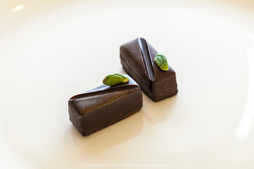 Hand-dipped Bonbons.Cacao-Barry Callebaut Canadian Intercollegiate Chocolate Competition April 21 - 22, 2012.