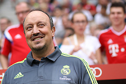 04.08.2015, Allianz Arena, Muenchen, GER, AUDI CUP, Real Madrid vs Tottenham Hotspur, im Bild Rafael Benitez (Real Madrid CF) // during the 2015 Audi Cup Match between Real Madrid and Tottenham Hotspur at the Allianz Arena in Muenchen, Germany on 2015/08/04. EXPA Pictures © 2015, PhotoCredit: EXPA/ Eibner-Pressefoto/ Schüler<br /> <br /> *****ATTENTION - OUT of GER*****