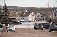Photo Randy Vanderveen<br /> Grande Prairie, AB<br /> 2020-04-20<br /> Flood waters still plague a neighbourhood in the north end of Sexsmith Wednesday. The  rapidly melting snow has resulted in overland flooding in several places in the South Peace with Sexsmith being one of the hardest hit.