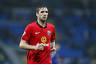 Shane Duffy of Blackburn Rovers looks on. Skybet football league championship match, Cardiff city v Blackburn Rovers at the Cardiff city stadium in Cardiff, South Wales on Saturday 2nd Jan 2016.<br /> pic by Andrew Orchard, Andrew Orchard sports photography.