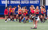 DEN BOSCH - thursday during semi final match between the women of Germany and Spain.  EC-21. PHOTO KOEN SUYK for EHF.