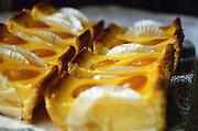 An apricot cake for dessert, Savennières Maine et Loire France