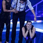 NLD/Hilversum/20121109 - The Voice of Holland 1e liveuitzending, Patt Riley, Denzel Dongen, Tessa Belinfante