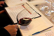 Israel, Barkan Winery. International wine tasting and grading session
