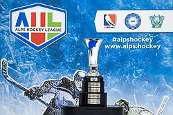 The AHL Cup after 3rd leg of ic hockey game between HK SZ Olimpija Ljubljana and Asiago Hockey in Final of Alps Hockey League 2020/21, on April 24, 2021 in Hala Tivoli, Ljubljana, Slovenia. Photo by Matic Klansek Velej / Sportida