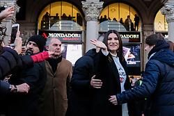 December 17, 2018 - Milano, Italy - Exhibition of Laura Pausini in Piazza Duomo in Milan, Italy, 15 December 2018 Photo: Luca Marenda / Soevermedia +39 02 43998577 sales@soevermedia.com (Credit Image: © Luca Marenda/Soevermedia via ZUMA Press)