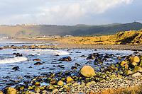 Norway, Klepp. Rock beach at Sele.